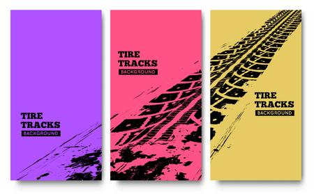 huellas de llantas: El neum�tico sigue el fondo. ilustraci�n. puede ser utilizado para posters, folletos, publicaciones, publicidad, transporte, ruedas, neum�ticos y eventos deportivos