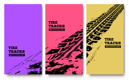 tire tracks: Tire tracks background. illustration. can be used for for posters, brochures, publications, advertising, transportation, wheels, tires and sporting events