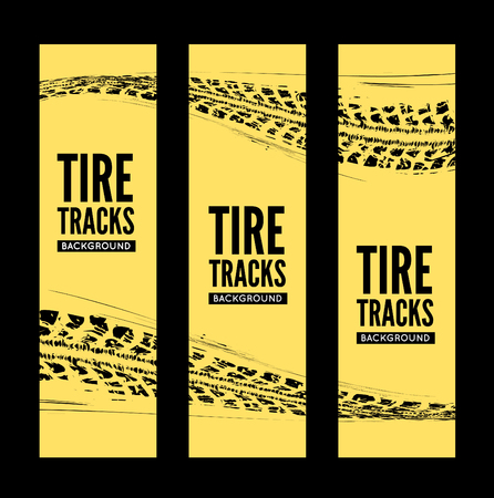 skidding: Tire tracks background. Vector illustration. can be used for for posters, brochures, publications, advertising, transportation, wheels, tires and sporting events Illustration
