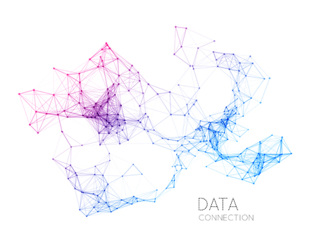 Abstract network connection. technology background on white