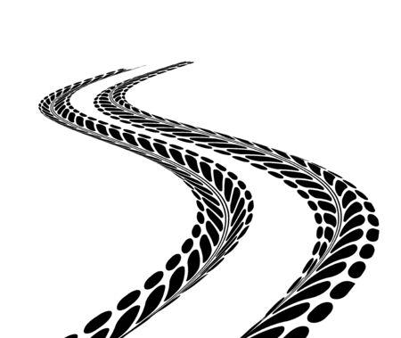 sports track: Tire tracks. Illustration