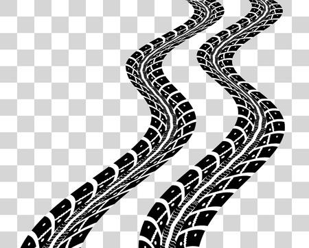 sports track: Tire tracks.  illustration on checkered background Illustration