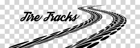 tread: Tire tracks.  illustration on checkered background Illustration