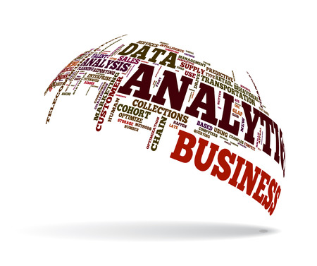 estimation: Background concept illustration of analytics business analysis. Illustration
