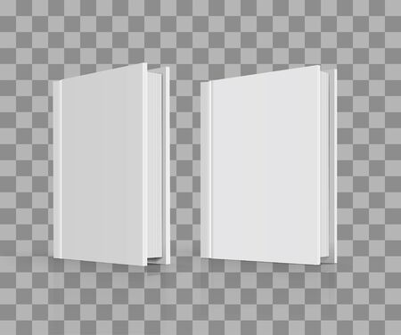 cover book: Blank book cover on checkered background. illustration