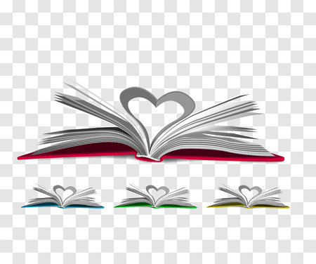 libro abierto: Abrir el libro aislado en el fondo a cuadros. Vectores