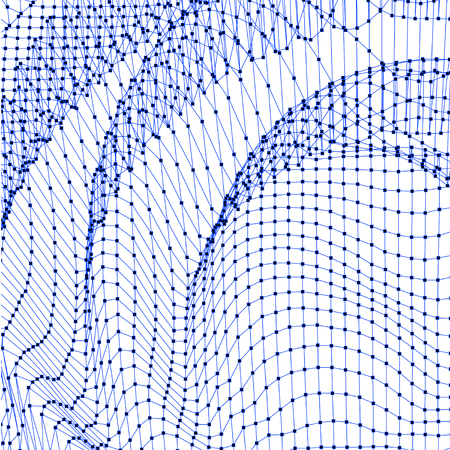 surfaces: Abstract grid background. Water surface. Illustration