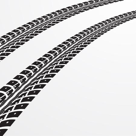 tyre tracks: Tire tracks. illustration on light grey background