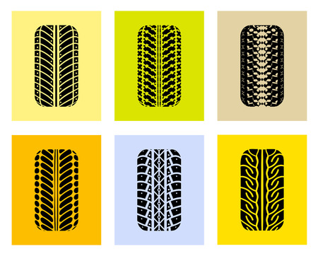 front wheel drive: Tires in the front. illustration on a colored background