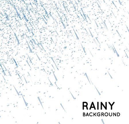 raining background: Rainy sky vector illustration on a white background