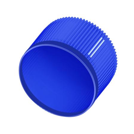 Plastic bottle cap isolated on white background. Vector illustration