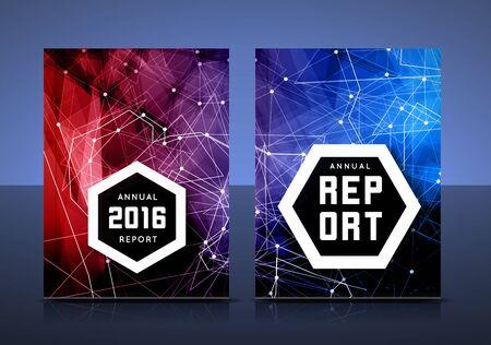 brochure cover design: Annual report template. Brochure, design, book cover or presentation. Illustration