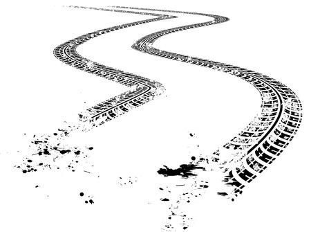 marks: Tire tracks. illustration on white background
