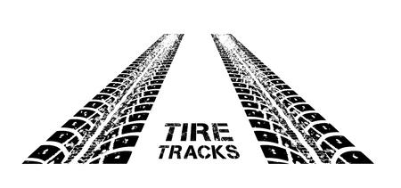 Huellas de neumáticos. Ilustración sobre fondo blanco