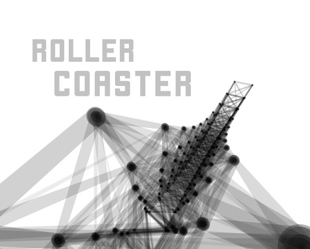 rollercoaster: Roller coaster vector illustration on white background Illustration