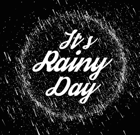 rainy sky: Rainy sky vector illustration on a black background. Place on top of your image in the screen mode