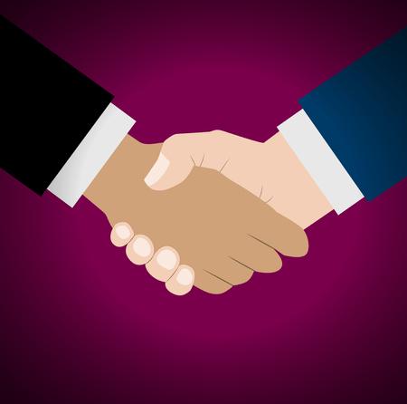 Handshake vector illustration. Background for business and finance Stock Illustratie