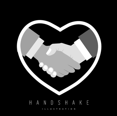 homo: Close up of handshake for gay pride. Vector illustration