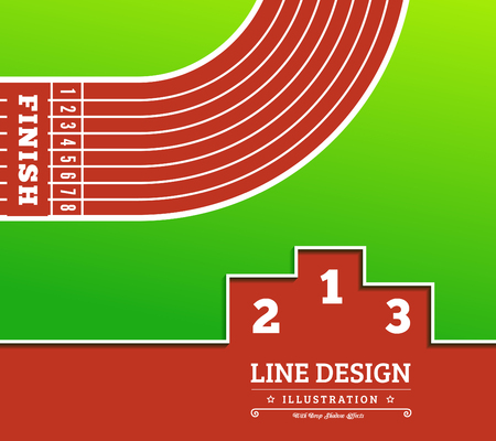racetrack: Pedestal thin line icon Vector illustration in flat style