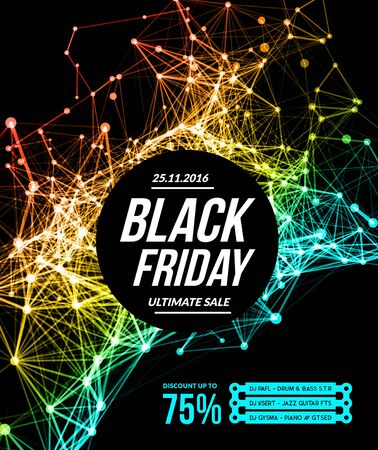 Black friday sale. Vector illustration on white background Illustration