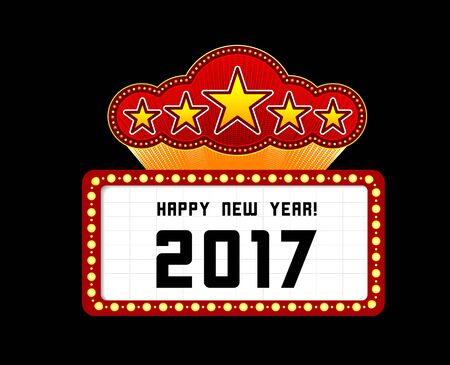 marquee: New Year marquee 2017. Vector illustration on black