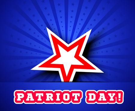 patriot: Patriot Day September 11. Vector illustration with star