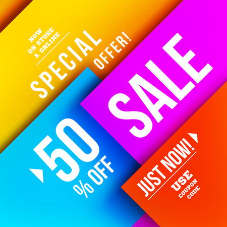 advertisements: Big sale illustration. Vector illustration. Material design Illustration