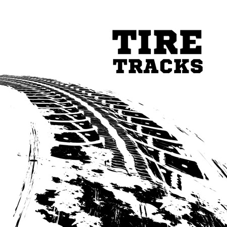 Tire tracks. illustration on white background Stock fotó - 64225970