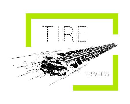 tracce di pneumatici. illustrazione su sfondo bianco