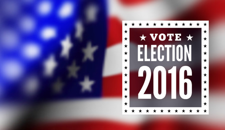 presidential: Presidential election in USA. illustration with flag Illustration
