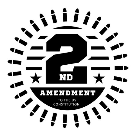 Second Amendment to the US Constitution to permit possession of weapons. Vector illustration Illustration