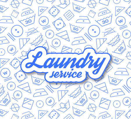 laundry room: Laundry service vector illustration on white background Illustration