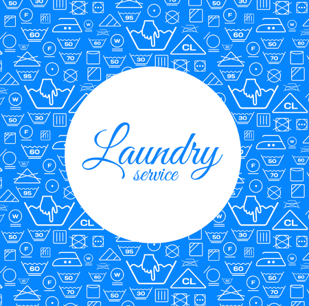 tumble drying: Laundry service vector illustration on blue background