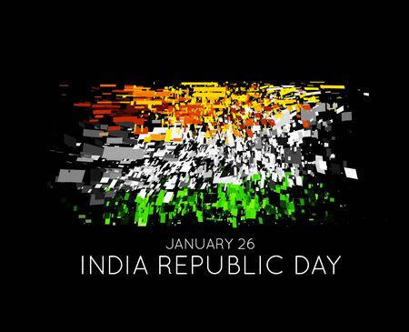 Indian Republic Day vector background with flag