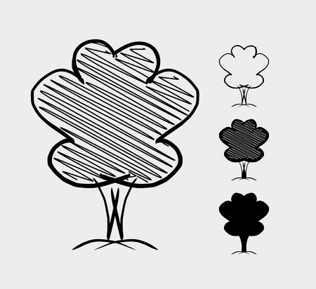 Tree. Hand drawn sketch illustration Illustration