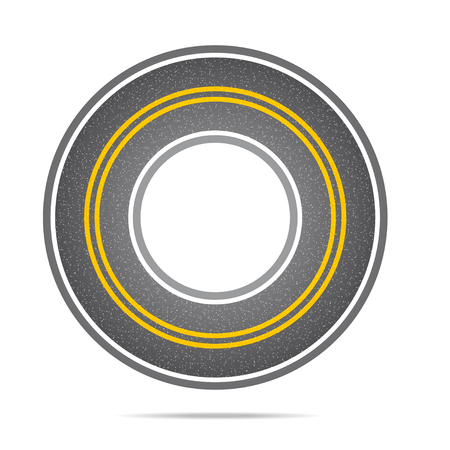 racecourse: Highway in a circle with asphalt texture
