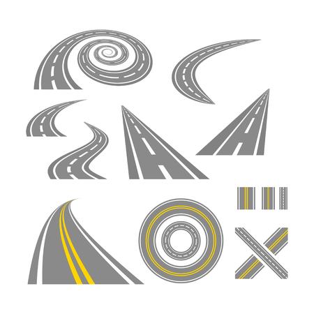 asphalt: Asphalt curved roads.