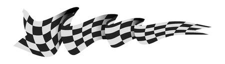 Bandiera da gara a scacchi. Archivio Fotografico - 71166731