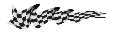 Checkered race flag.
