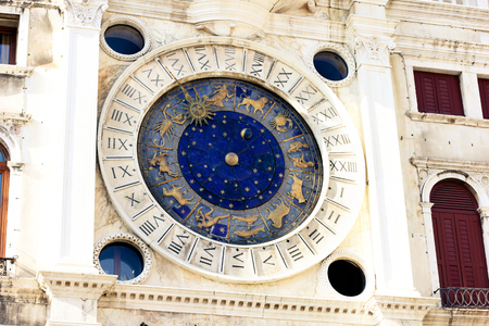 astronomical: Zodiac astronomical Clock Tower Torre dell Orologio at st. Mark