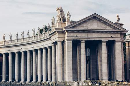architectural exteriors: Saint Peters square at the Vatican