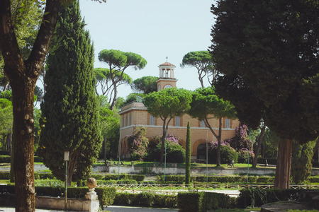 prince of peace: Park in Rome, Italy Villa Borghese
