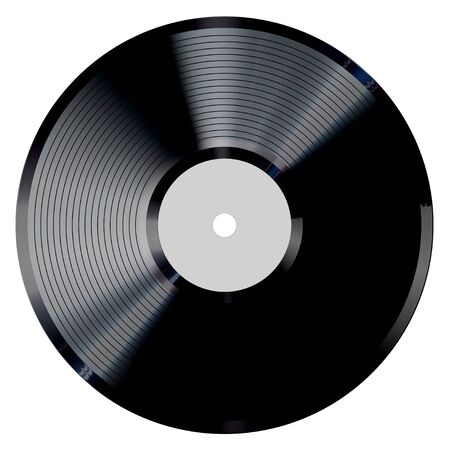 Vinyl record vector illustration. Illustration