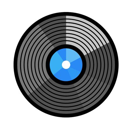 Vinyl record vector illustration. Disc design flat stayle
