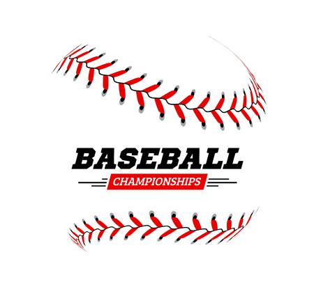 Baseball ball on white background Vector illustration Illustration