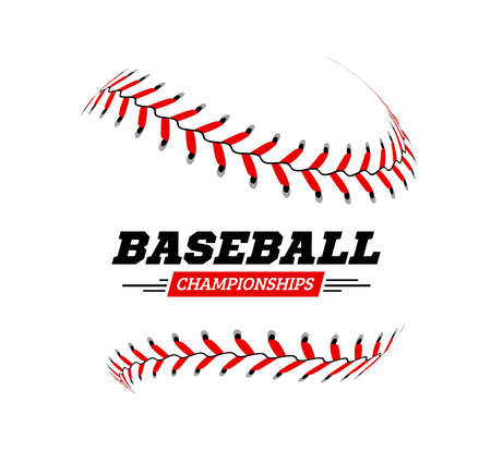 Baseball-Ball auf weißem Hintergrund Vektor-Illustration Vektorgrafik