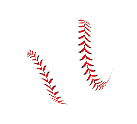 Baseball ball on white background Vector illustration.