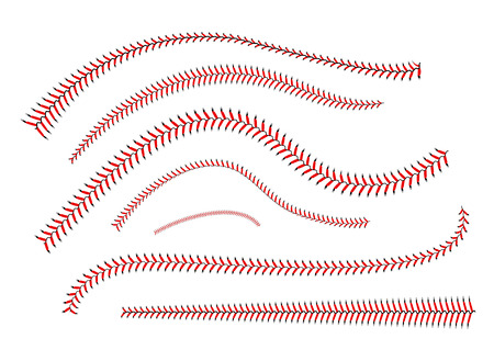 Lace from a baseball on a white background Illustration