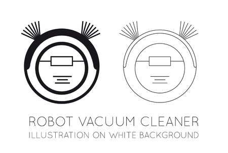 Robot vacuum cleaner on a white background. Vector illustration