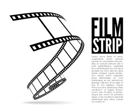 Ilustración vectorial tira de película Ilustración de vector